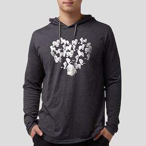 Old English Sheepdog Heart T-shi Mens Hooded Shirt