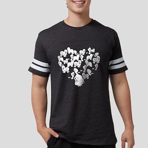 Old English Sheepdog Heart T-s Mens Football Shirt