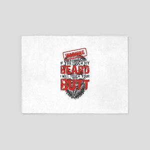 Don't Catch My Beard 5'x7'Area Rug