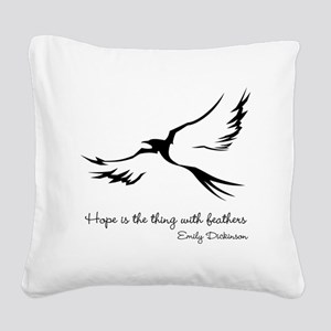 Feathered Hope Square Canvas Pillow