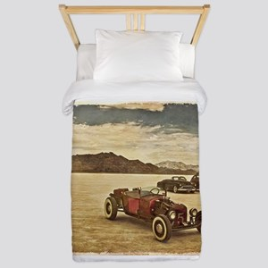 Hot Rods at Bonneville Twin Duvet