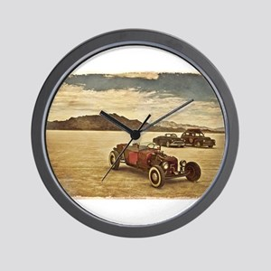 Hot Rods at Bonneville Wall Clock