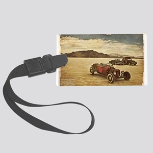Hot Rods at Bonneville Large Luggage Tag