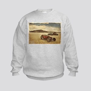 Hot Rods at Bonneville Kids Sweatshirt