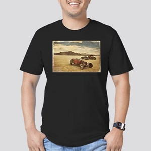 Hot Rods at Bonneville Men's Fitted T-Shirt (dark)