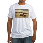 Hot Rods at Bonneville Fitted T-Shirt