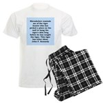 kennedy quote Men's Light Pajamas