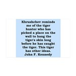 kennedy quote 35x21 Wall Decal