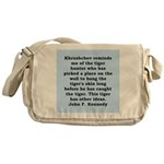 kennedy quote Messenger Bag