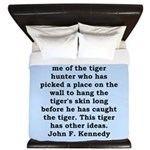 kennedy quote King Duvet