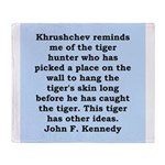 kennedy quote Throw Blanket