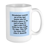 kennedy quote Large Mug