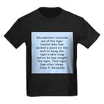 kennedy quote Kids Dark T-Shirt