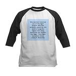 kennedy quote Kids Baseball Jersey