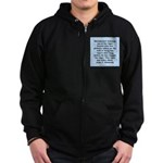 kennedy quote Zip Hoodie (dark)