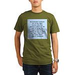 kennedy quote Organic Men's T-Shirt (dark)