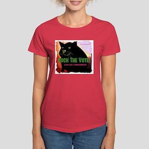 Rock The Vote! Fat Cat 4 Prez Women's Dark T-Shirt