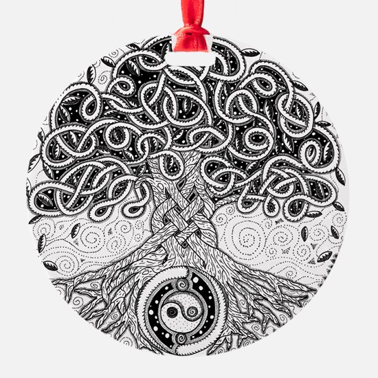 Celtic Tree of Life Ink Ornament