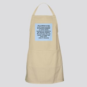 john f kennedy quote Apron