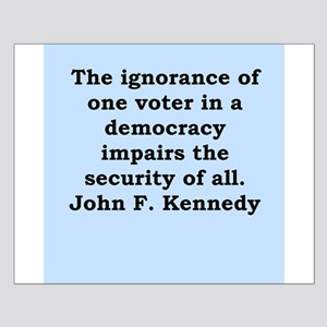 john f kennedy quote Small Poster
