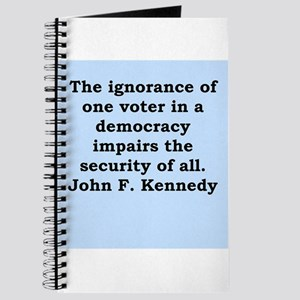john f kennedy quote Journal