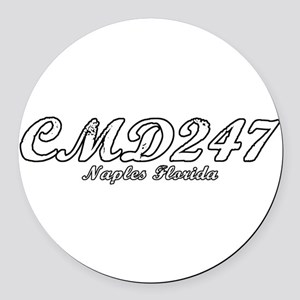 cmd247 full light Round Car Magnet