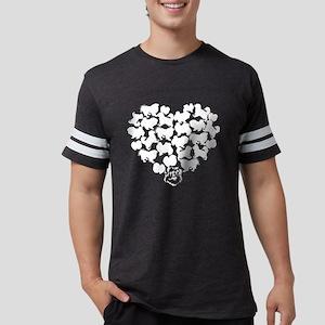 Pekingese Heart T-shirt Mens Football Shirt