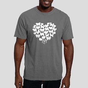 Pekingese Heart T-shirt Mens Comfort Colors Shirt