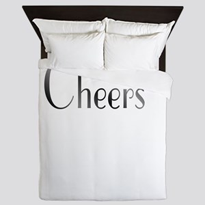 Cheers Black and White Queen Duvet