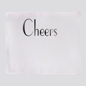 Cheers Black and White Throw Blanket