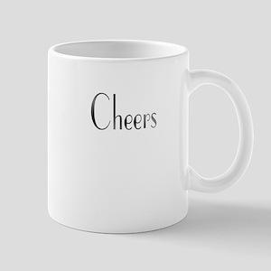 Cheers Black and White Mug