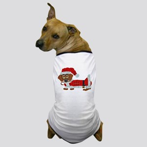 Dachshund Candy Cane Santa Dog T-Shirt