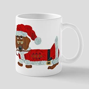 Dachshund Candy Cane Santa Mug