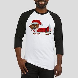 Dachshund Candy Cane Santa Baseball Jersey