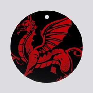 Welsh Red Dragon Ornament (Round)