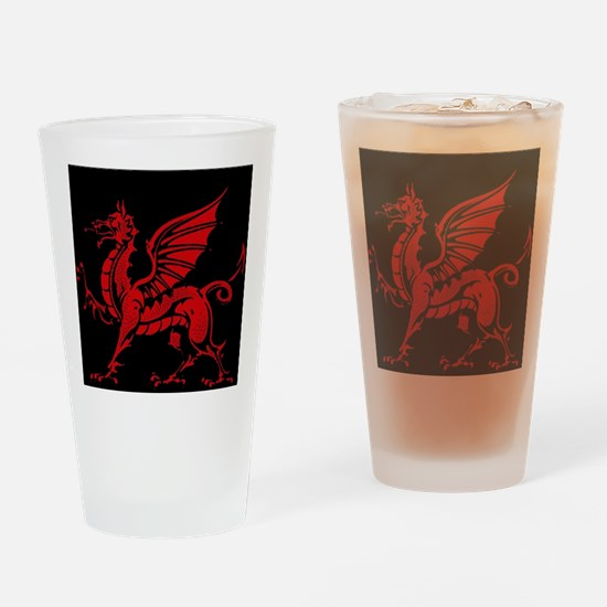 Welsh Red Dragon Drinking Glass