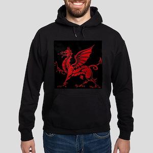 Welsh Red Dragon Hoodie (dark)