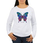 Exuberant Butterfly Women's Long Sleeve T-Shirt