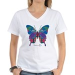 Exuberant Butterfly Women's V-Neck T-Shirt