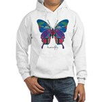 Exuberant Butterfly Hooded Sweatshirt