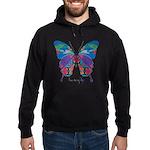 Exuberant Butterfly Hoodie (dark)