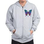 Exuberant Butterfly Zip Hoodie