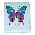 Exuberant Butterfly baby blanket