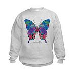 Exuberant Butterfly Kids Sweatshirt