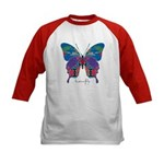 Exuberant Butterfly Kids Baseball Jersey
