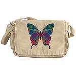 Exuberant Butterfly Messenger Bag