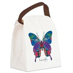 Exuberant Butterfly Canvas Lunch Bag