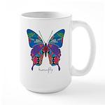 Exuberant Butterfly Large Mug