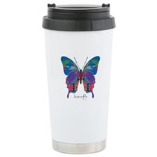 Exuberant Butterfly Stainless Steel Travel Mug