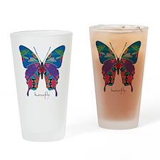 Exuberant Butterfly Drinking Glass
